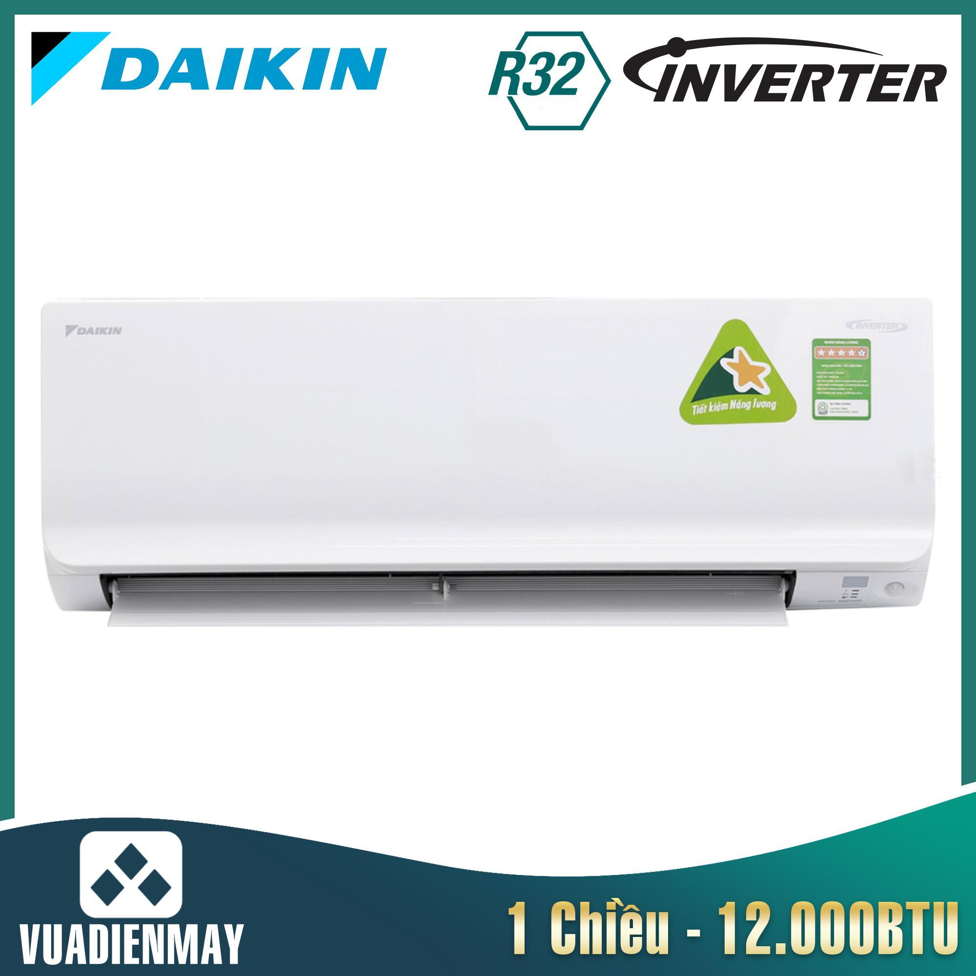Điều hòa Daikin 12000BTU 1 chiều inverter FTKC series