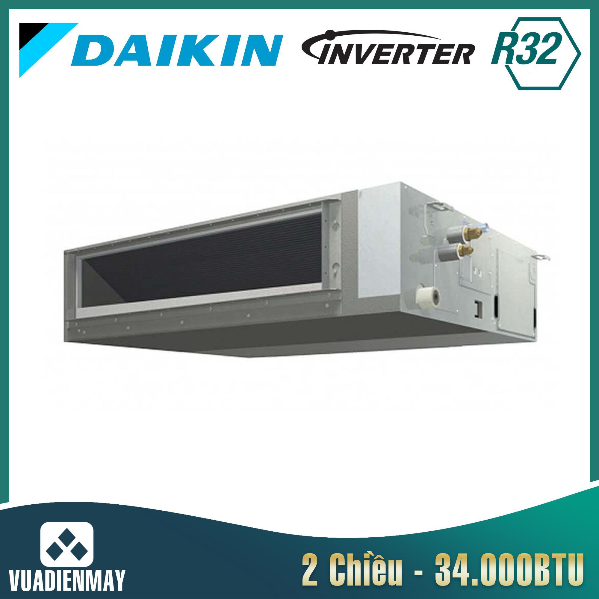 Điều hòa âm trần nối ống gió 34000BTU Daikin 2 chiều inverter