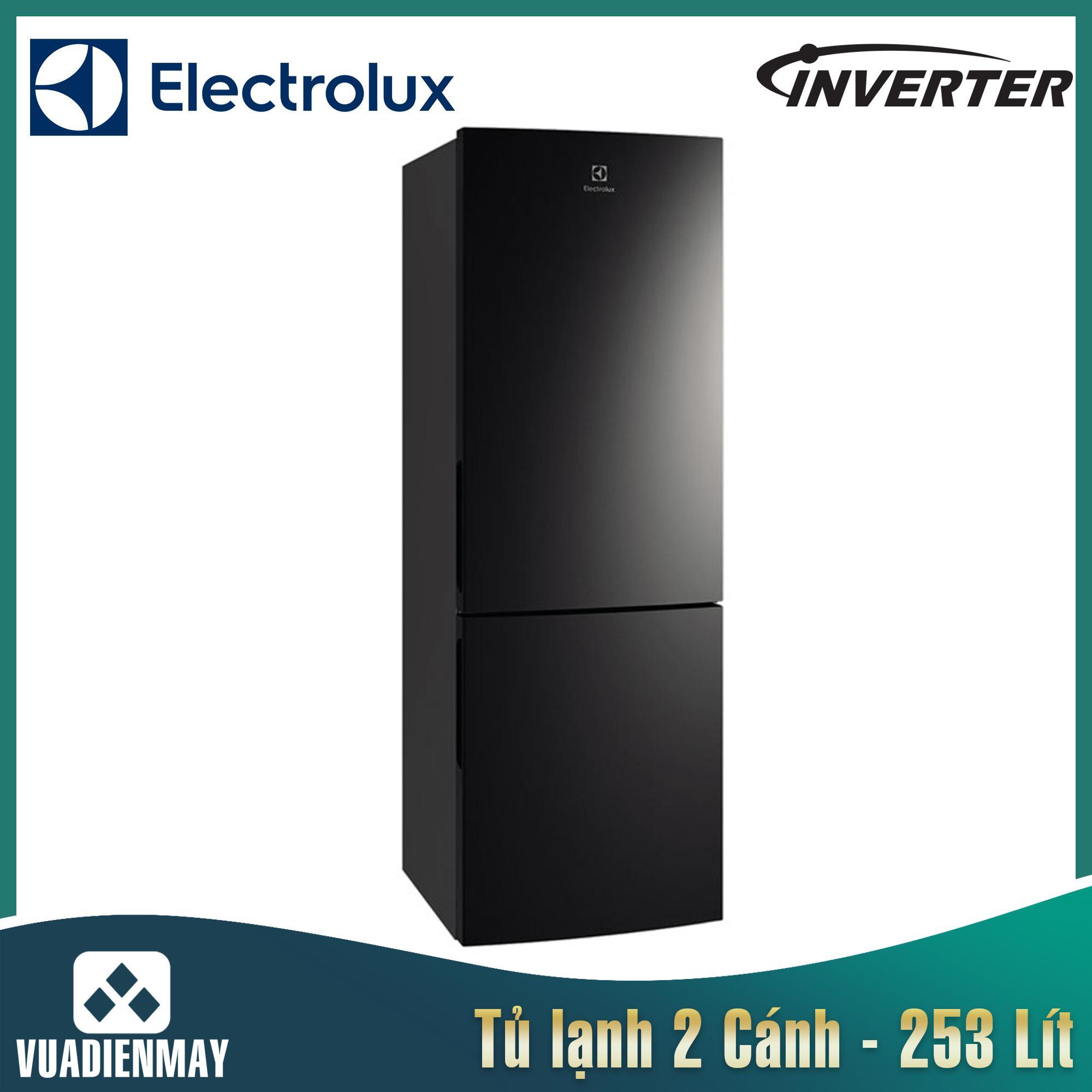 Tủ lạnh Electrolux Inverter 253L màu đen
