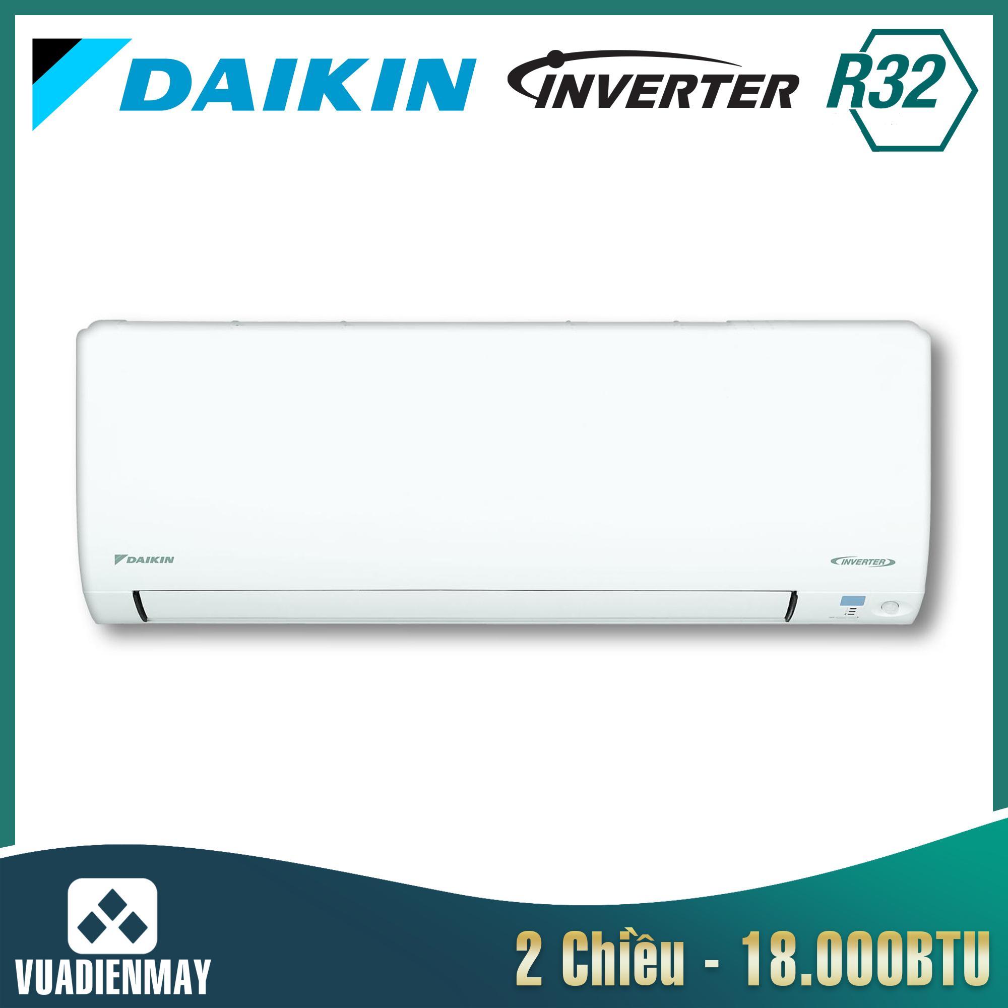 Điều hòa Daikin Inverter 2 chiều 18.000BTU