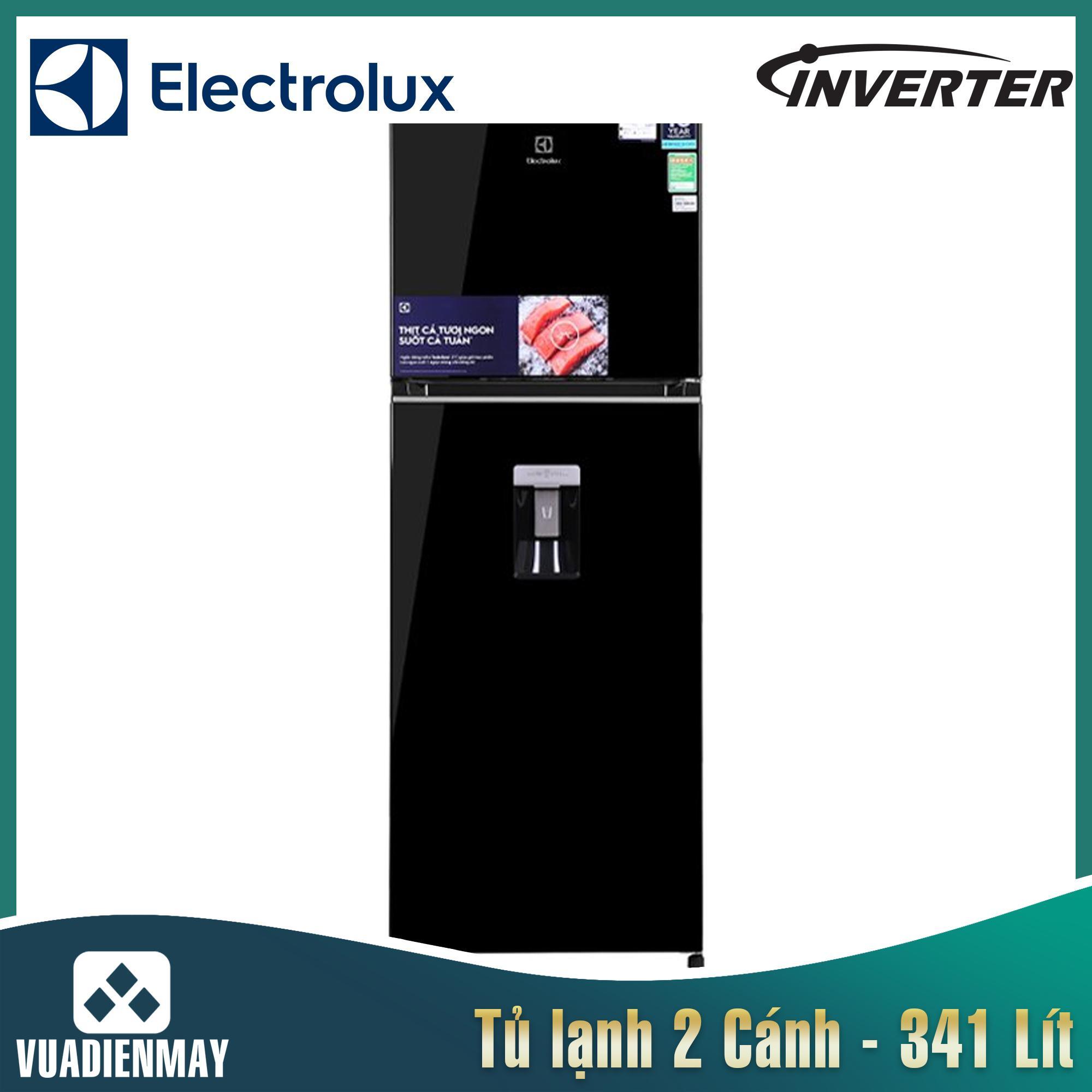 Tủ lạnh Electrolux Inverter 341 lít màu đen