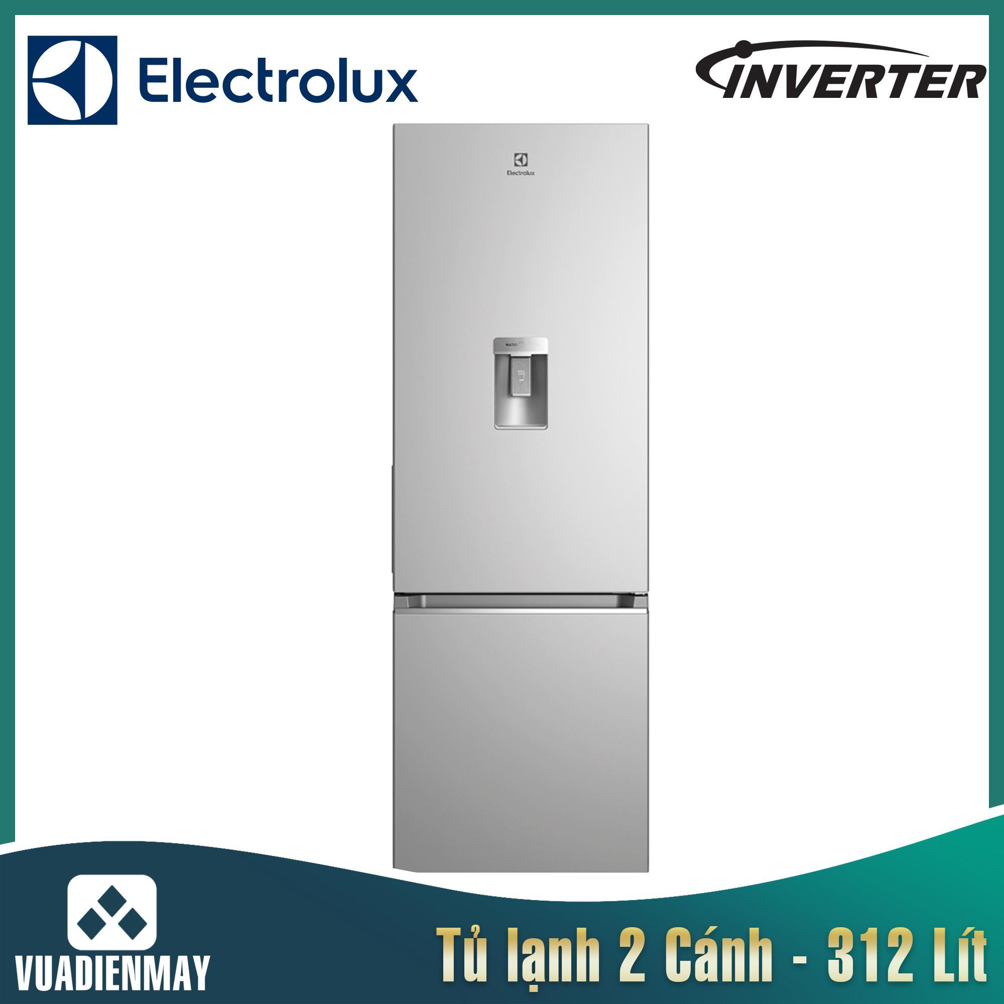 Tủ lạnh Electrolux inverter 312 lít màu bạc