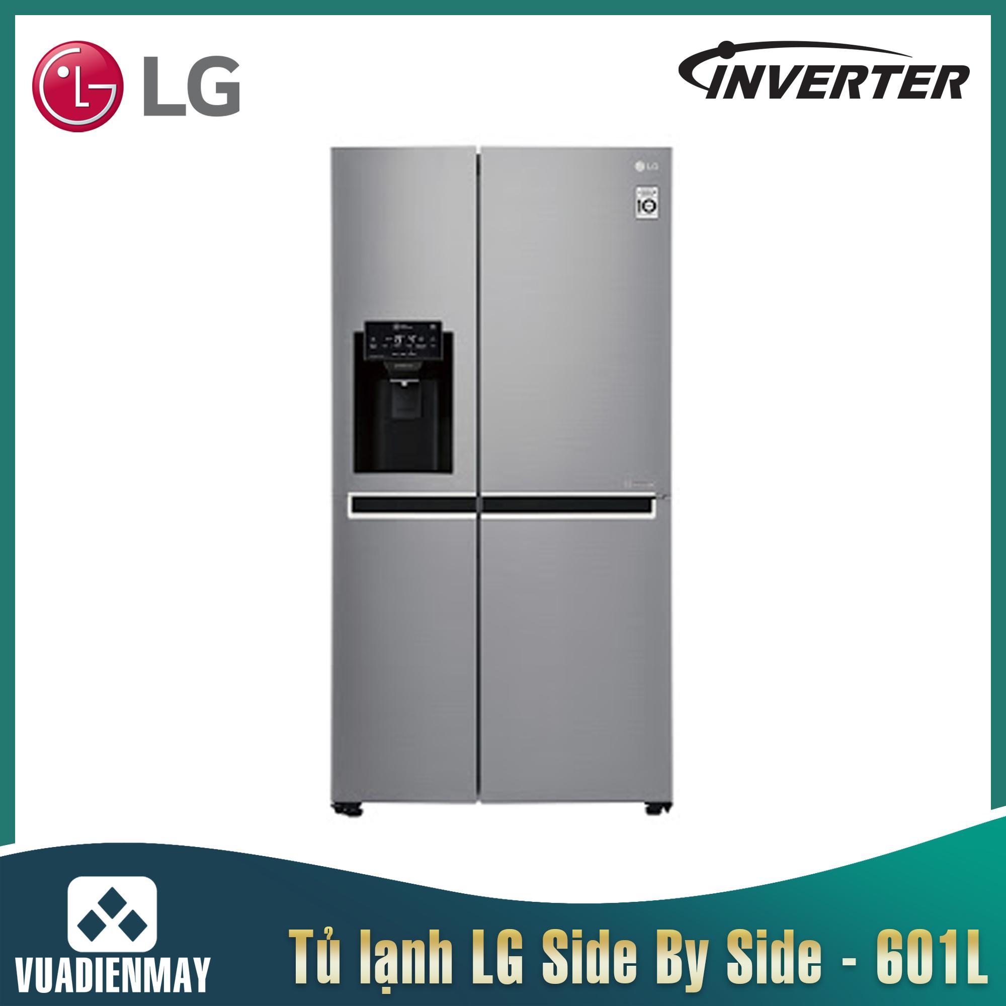 Tủ lạnh LG side-by-side inverter 601 lít