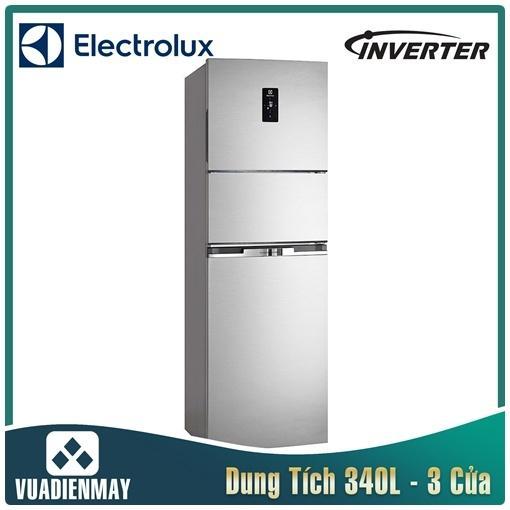 Tủ lạnh Electrolux 3 cánh 337 lít Inverter màu bạc