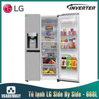 Tủ lạnh LG Side-by-Side Inverter 668 lít