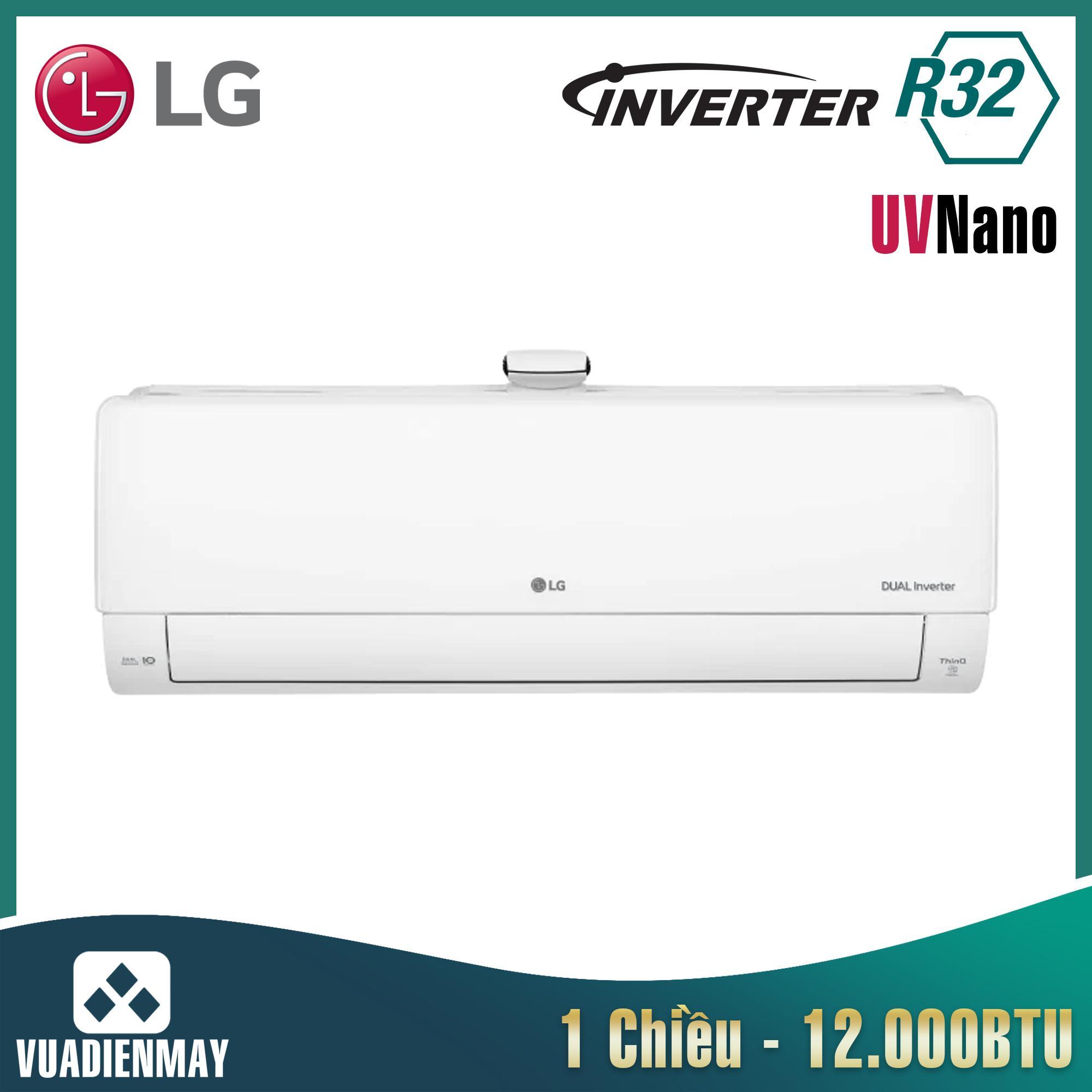 Điều hòa LG 12000BTU 1 chiều Inverter UV Nano Model 2021