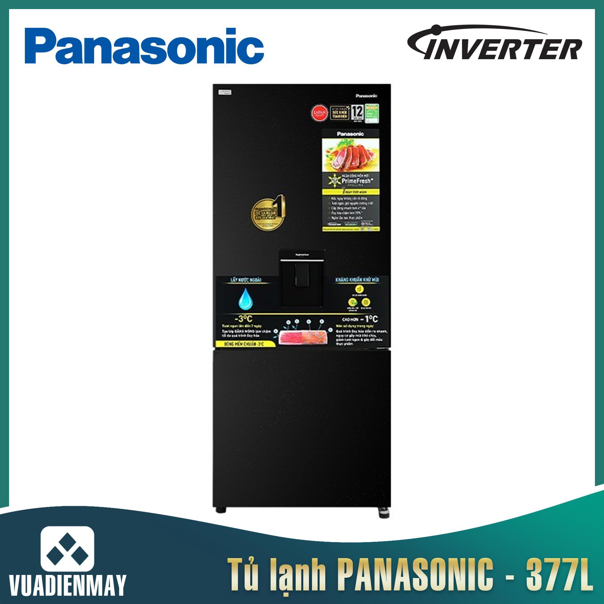 Tủ lạnh Panasonic Inverter 377 Lít