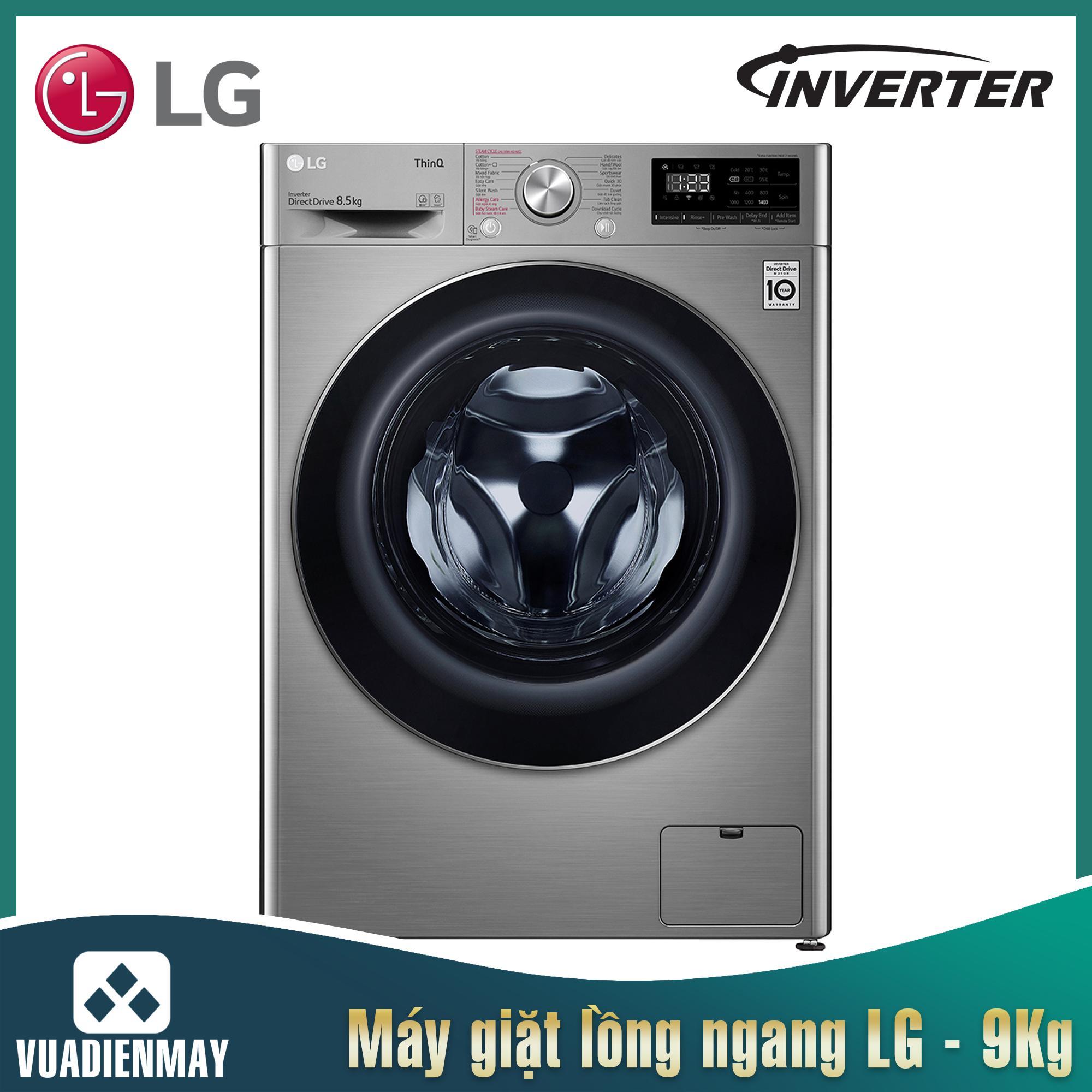 Máy giặt sấy LG lồng ngang 9 Kg Inverter