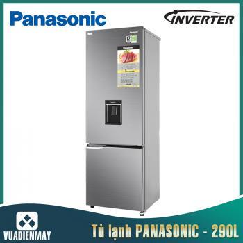 Tủ lạnh Panasonic 290 lít 2 cửa Inverter màu bạc