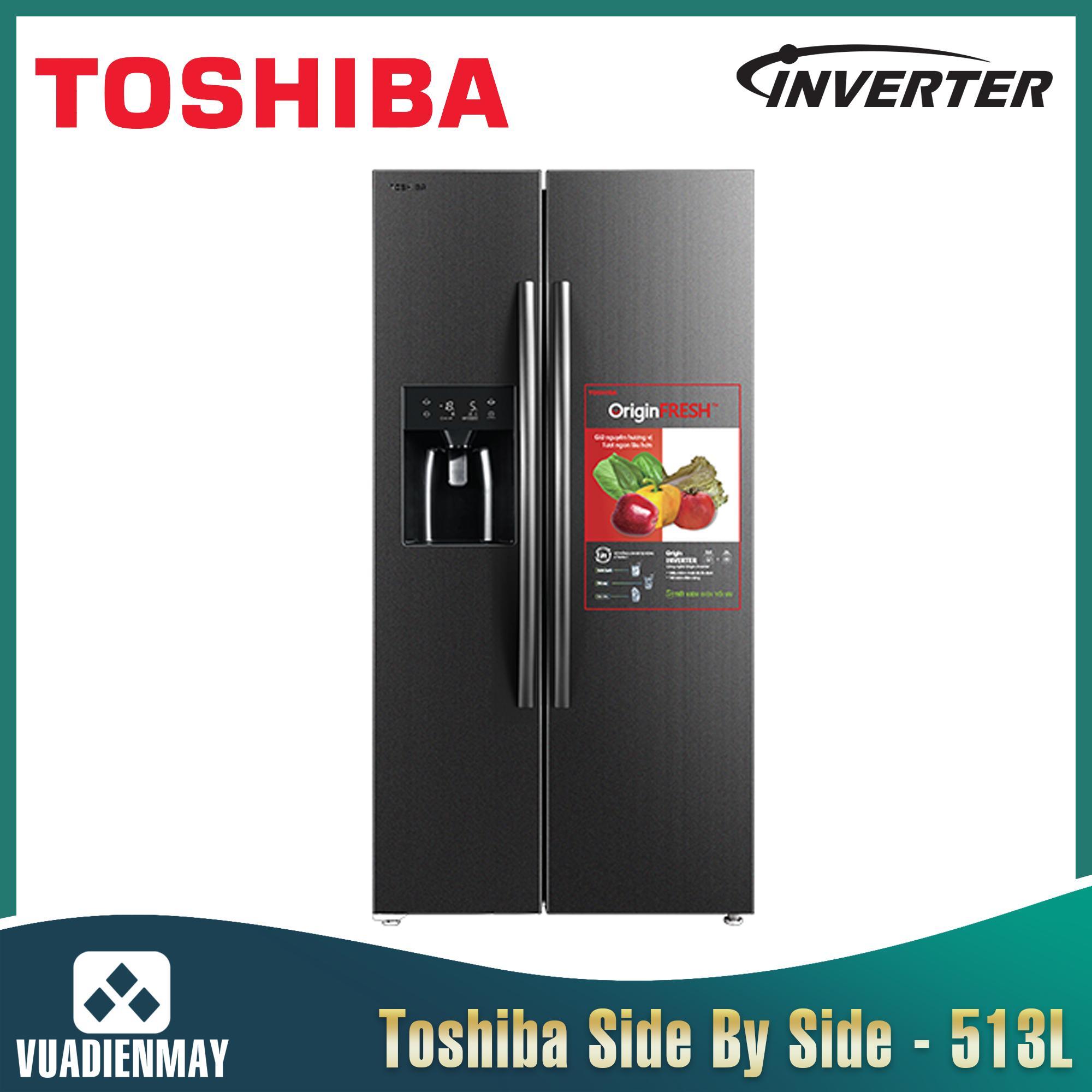 Tủ lạnh Toshiba 513 Lít Side By Side Inverter