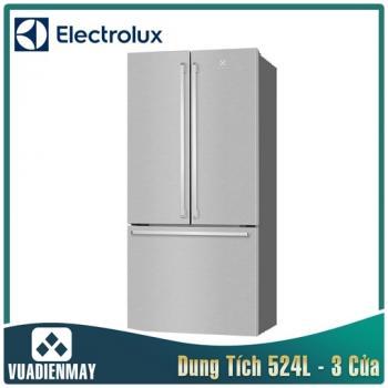 Tủ lạnh Electrolux Inverter 524 lít màu bạc